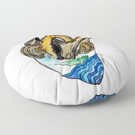 """""""Sailing in my heart"""", french bulldog art by BoubouleArt Floor Pillow"""