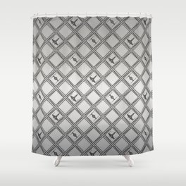 X Wing TIE Fighter Pattern Shower Curtain