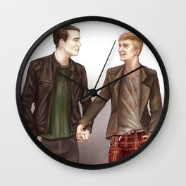 Punk Boyfriends Wall Clock