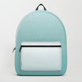 Aqua and White Gradient  Backpack