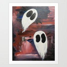 Anxious Ghosties Art Print