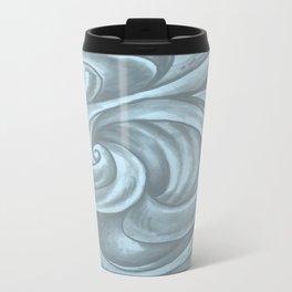 Swirl (Gray Blue) Metal Travel Mug