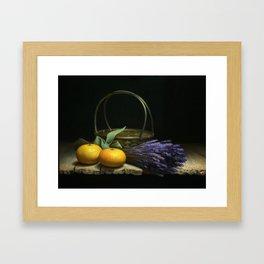 Mandarin oranges Framed Art Print