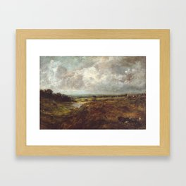John Constable 1776–1837   Branch Hill Pond, Hampstead Heath, with a Cart and Carters Framed Art Print