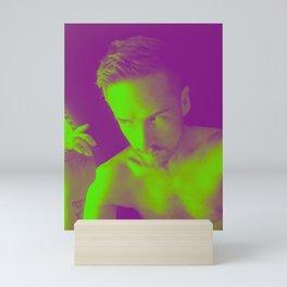 Skeptic, green Mini Art Print