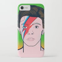 david bowie iPhone & iPod Cases featuring David Bowie by Alli Vanes