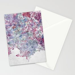 Montevideo Map Stationery Cards