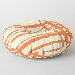 Orange and cream plaid Floor Pillow
