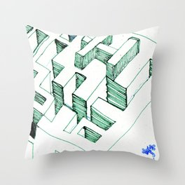 Clay Labyrinth (sketch) Throw Pillow