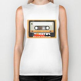 The cassette tape golden tooth Biker Tank