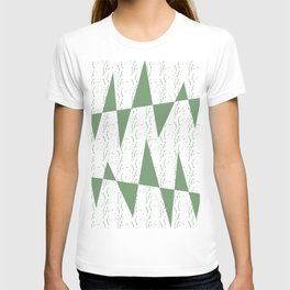 Abstract geometric pattern on white background T-shirt
