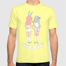 Cute Butt Club Mens Fitted Tee Lemon LARGE