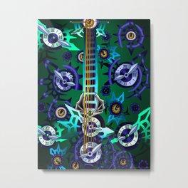 Fusion Keyblade Guitar #192 - No Name & Young Xehanort's Keyblade Metal Print