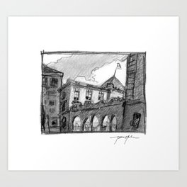 Portland Customs Building Art Print
