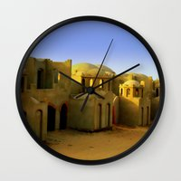 neverland Wall Clocks featuring neverland by Giorgia Giorgi
