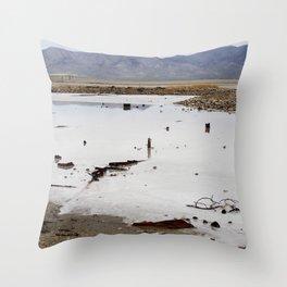 Junk at the Great Salt Lake Throw Pillow