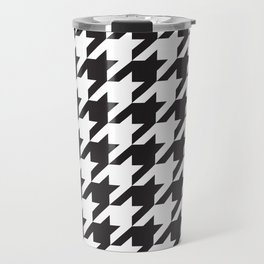 Houndstooth (Black and White) Travel Mug