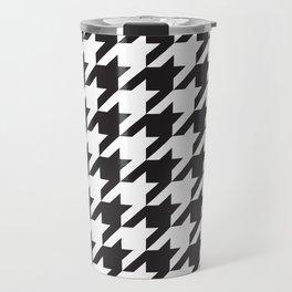 Houndstooth (Black and White) Travel Mug