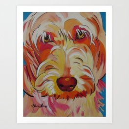 Labradoodle Pop Art Dog Art Print