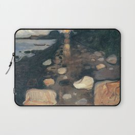 Edvard Munch - Moonlight on the Beach Laptop Sleeve