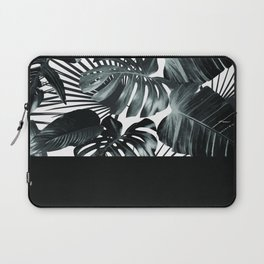 Palm Leaves and Black Laptop Sleeve