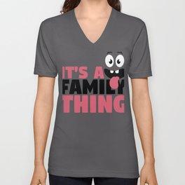 Fun Family It's A Family Thing Googly Eyes Unisex V-Neck