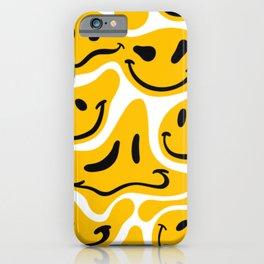 TRIPPY MELTING SMILE PATTERN iPhone Case