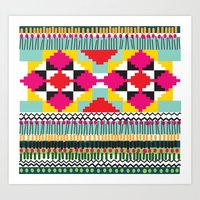 ethnic Art Prints featuring Ethnic by Maria Blanco