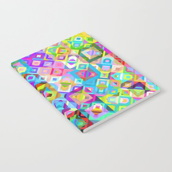 Multicolor Geometric Pattern Notebook