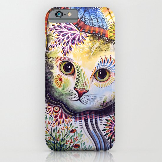 Lucy ... Abstract cat art iPhone & iPod Case