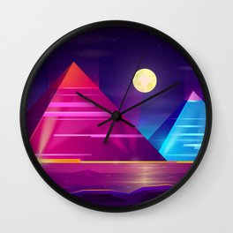 Synthwave Neon City #6 Wall Clock
