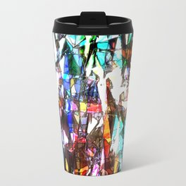 Light Streaming Through Stained Glass Travel Mug