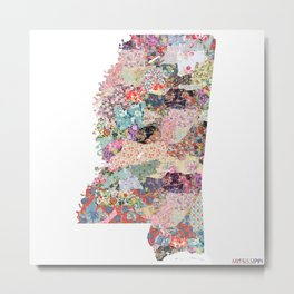 mississippi map Metal Print