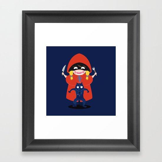 Red riding hunger wood Framed Art Print