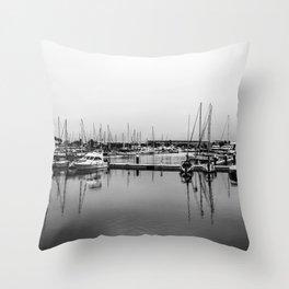 Boats Reflex Throw Pillow