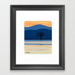 Lonely Oak Framed Art Print