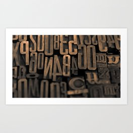Movable Type 01 Art Print