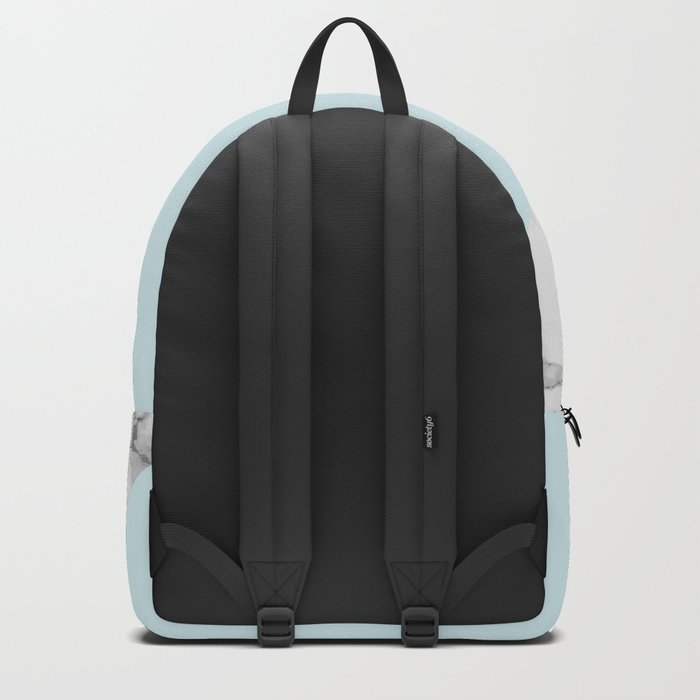 Marble + Pastel Blue Backpack
