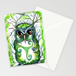 Emerald Owl Stationery Cards