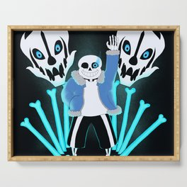 Sans the Skeleton Serving Tray
