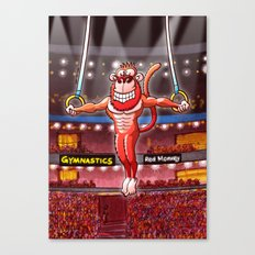 Olympic Flying Rings Monkey Canvas Print