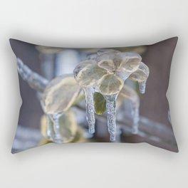 Frozen Leaves Rectangular Pillow