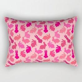 Bunnies Galore Pink on Pink Rectangular Pillow