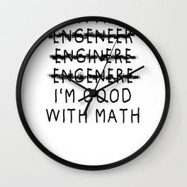 Engineer gift students and graduates diploma Wall Clock