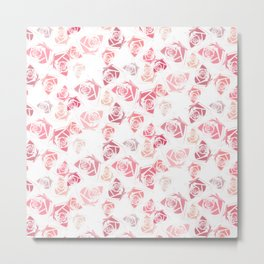 pink rose pattern Metal Print