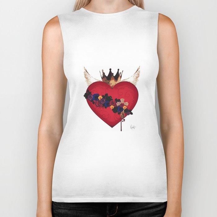 Sacred Heart for Frida Biker Tank