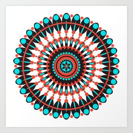 Native American Mandala Art Print