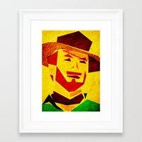 clint barton Framed Art Prints featuring Clint by Triplea