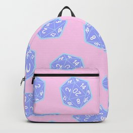 Twenty Sided Dice Pattern Backpack