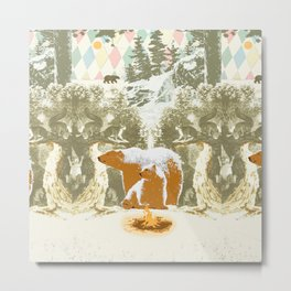 WINTER BEARS Metal Print